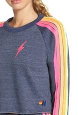 Aviator Nation Aviator Nation Bolt Cropped Classic Crew Sweatshirt