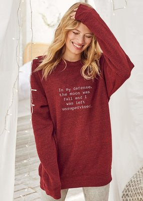 Om & Ah Om & Ah Full Moon Relaxed Pullover