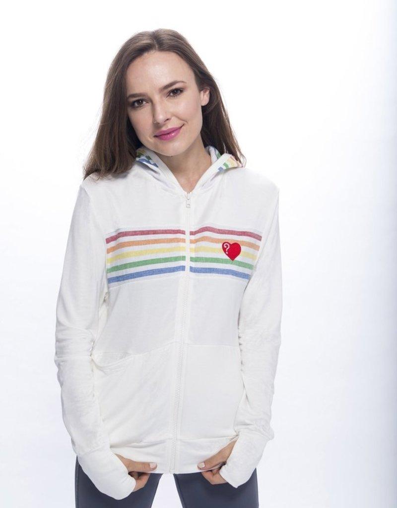 Love Is Love Is Retro Rainbow Zip Hoodie