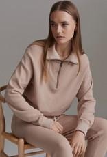 Varley Varley Buckingham Knit Half Zip Sweatshirt