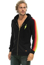 Aviator Nation Aviator Nation Embroidery Classic 4  Stripe Zip Hoodie