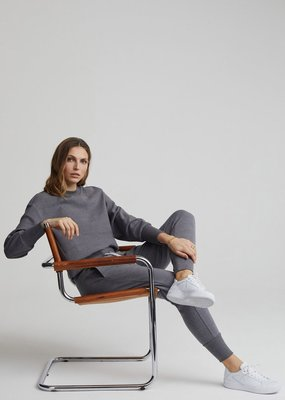Varley Varley Edith Ribbed Pique Sweater