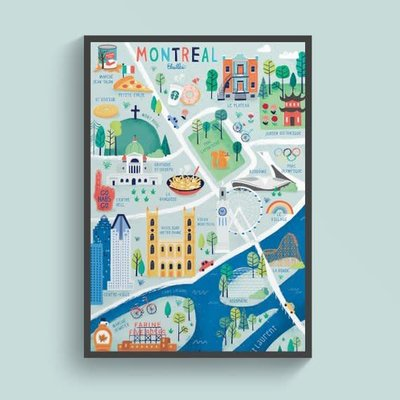 Elaillce Montreal map (2 sizes)