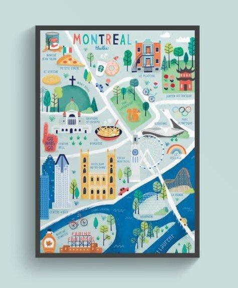 Elaillce Carte de Montréal