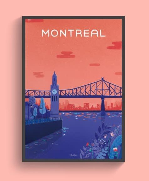 Elaillce Print Old Montreal