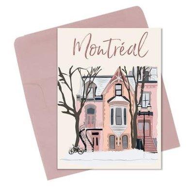 Lili Graffiti Winter Montreal Postcard