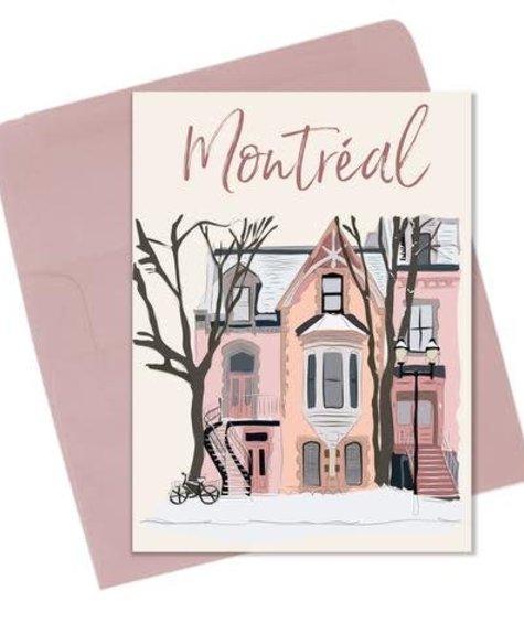 Lili Graffiti Winter Montreal - Greeting card