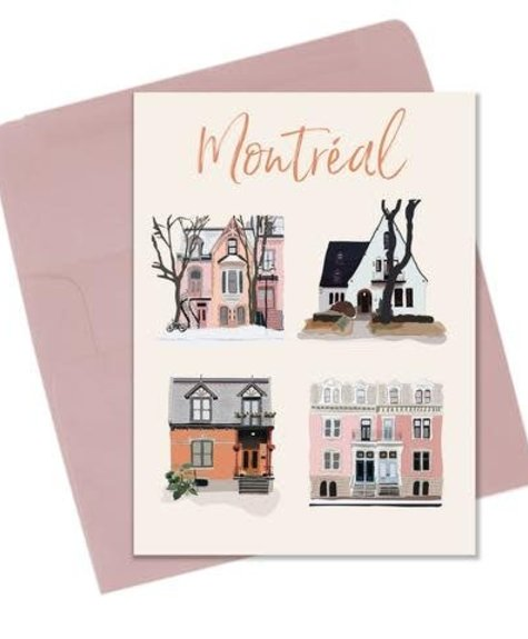Lili Graffiti Façades Montréal Greetings card