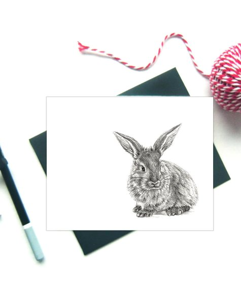 Le Nid Greeting Card - Rabbit
