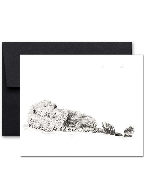 Le Nid Greeting Card - Otter mom