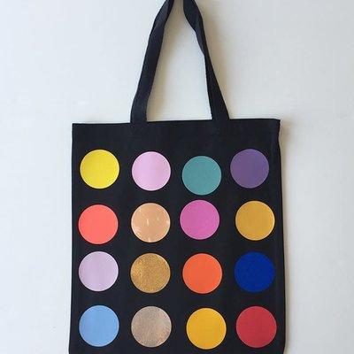 Totebag polka dots - Noir