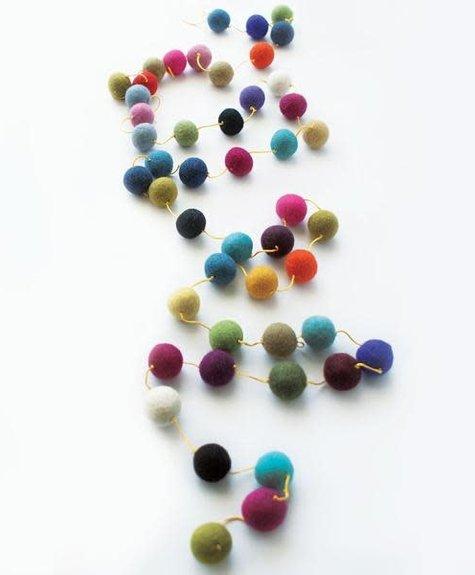 Guirlandes - Pompons multicolore