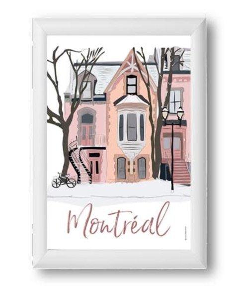 Lili Graffiti Montréal - Plateau Poster