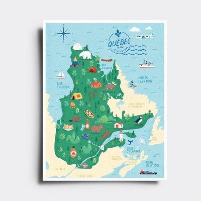 Elaillce Québec map