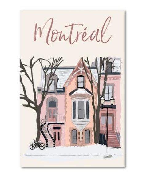 Lili Graffiti Montreal Le Plateau Greetings card