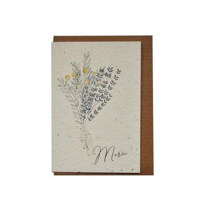 Carte - Bouquet Merci (ensemencé)
