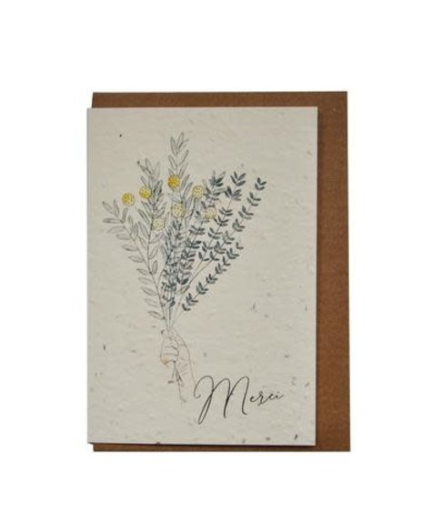 Lili Graffiti Bouquet Merci (ensemencé) - Carte de souhaits