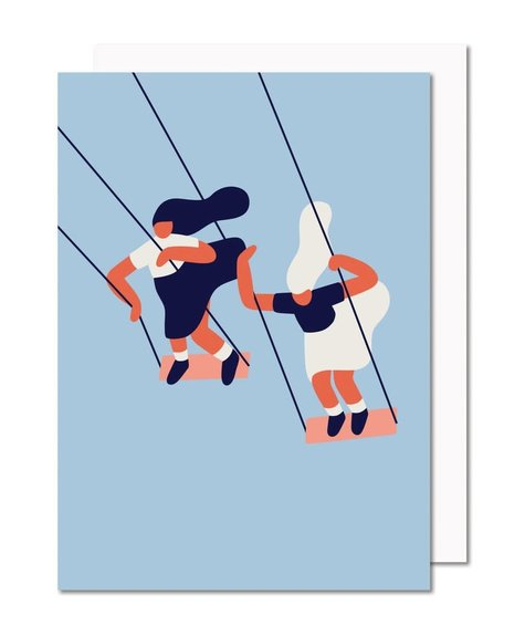 Paperole Swing - Greeting card