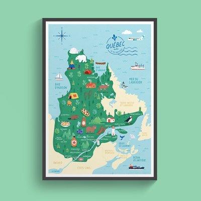 Carte du Québec (2 formats)