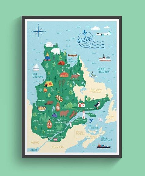 Elaillce Carte du Québecù