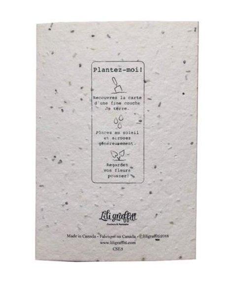Bonne fête (ensemencé) - Carte de souhaits