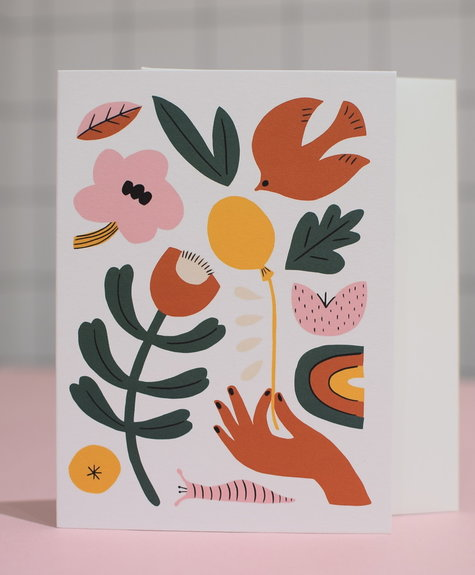 Paperole Greeting Card - Balloon