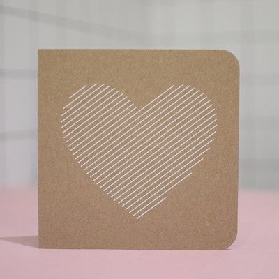 Carte - Coeur blanc