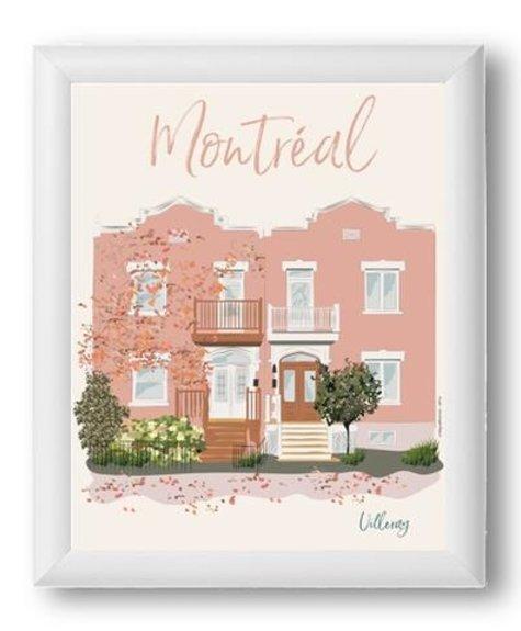 Montréal - Villeray Affiche