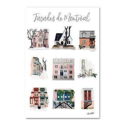 Carte postale - Façades