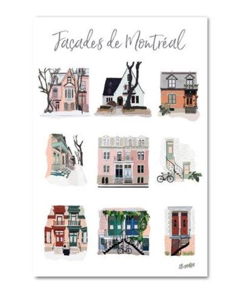 Lili Graffiti Montréal facades - Postcard