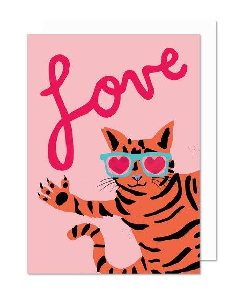 Paperole Love cat - Carte de souhaits