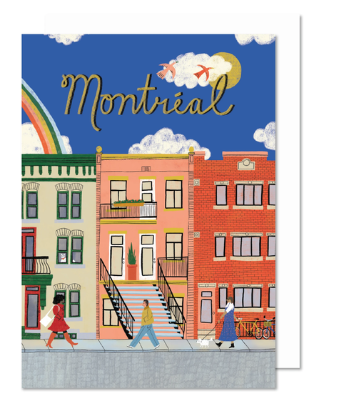 Paperole Montreal street - Greeting card