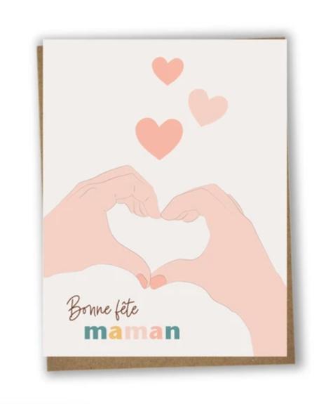 Carte - Coeur avec les mains