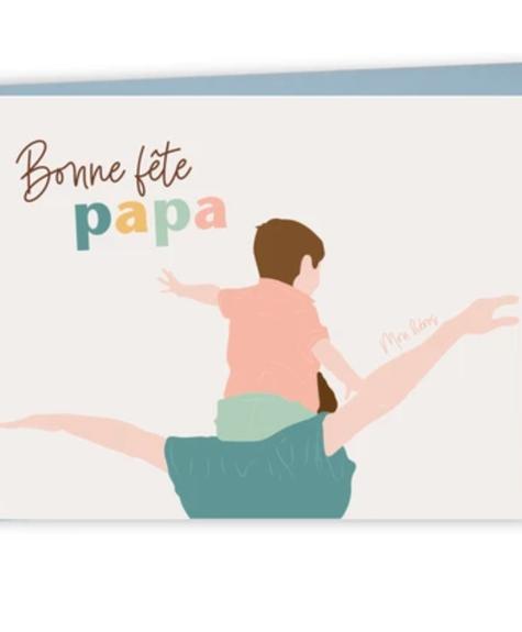 Lili Graffiti Carte - Bonne fête papa (héros) - Wishcard