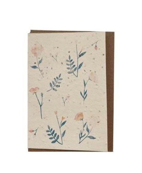 Lili Graffiti Flowers (seeded paper) - Greeting card