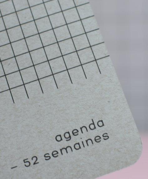 Agenda Archipel Naturel - (Quadrillé noir)