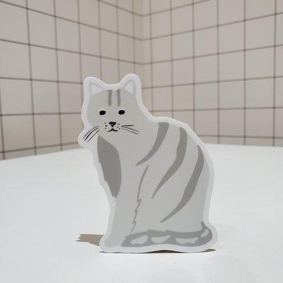 Sticker NW Grey cat