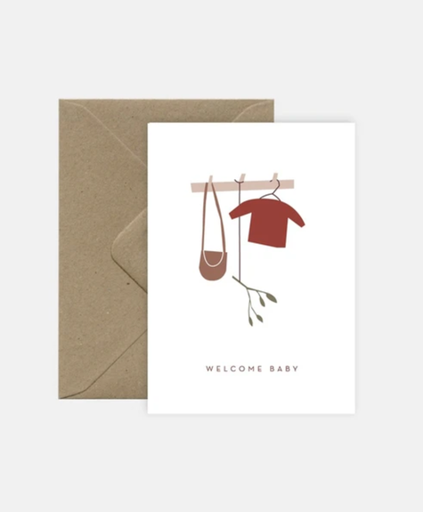 Michoucas Baby cardigan - Greeting card