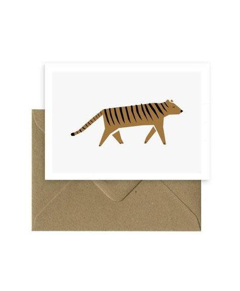 Michoucas Hello tiger - Carte de souhaits