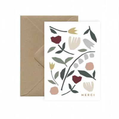 Carte  Folkflowers merci