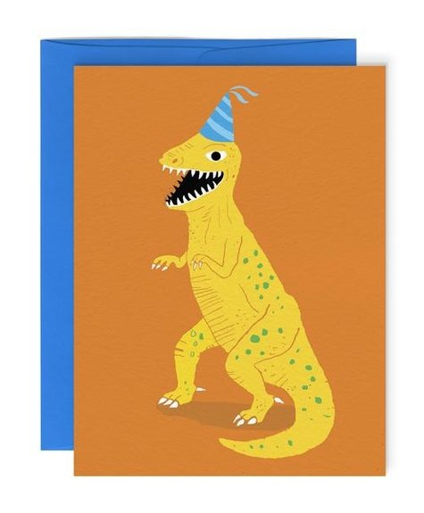 Paperole Dinosaure - Carte de souhaits