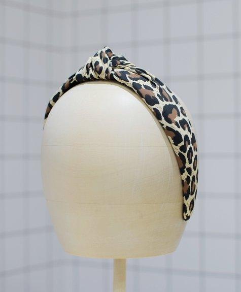 Femme Faire Bandeau à noeud imprimé léopard
