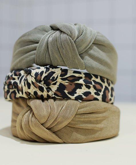 Bandeau à noeud imprimé léopard Femme Faire