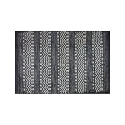 Avocado Decor Tapis coton - Largo noir (2'x3'; 60x91cm)