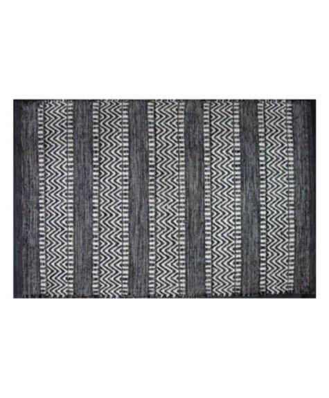 Tapis coton - Largo noir (2'x3'; 60x91cm)
