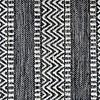 Avocado Decor Cotton rug - Largo black (2'x3 '; 60x91cm)