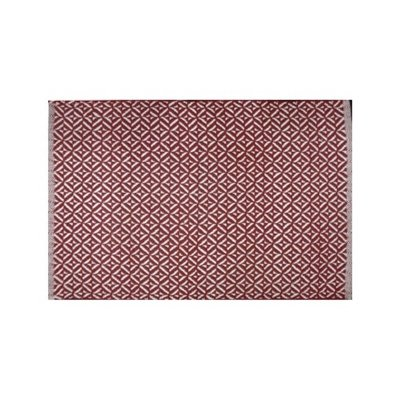 Avocado Decor Cotton rug - Red Bev (2'x3 '; 60x91cm)