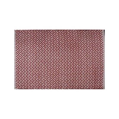 Avocado Decor Tapis coton Bev rouge  (2'x3'; 60x91cm)