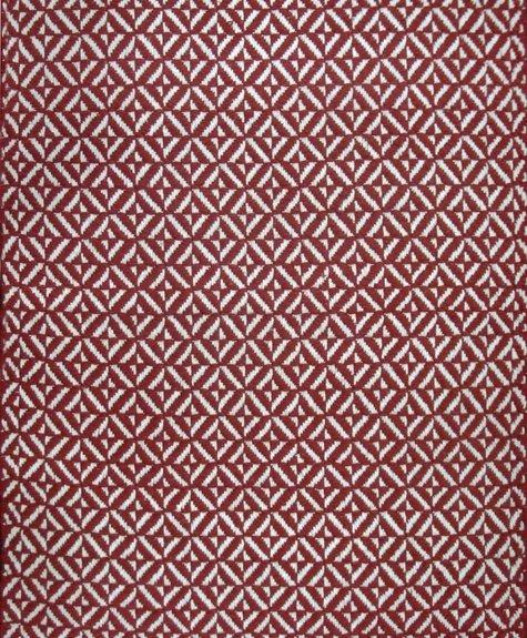 Tapis coton Bev rouge  (2'x3'; 60x91cm)