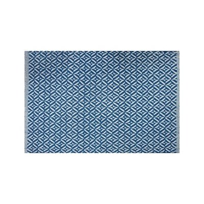 Tapis coton Bev bleu  (2'x3'; 60x91cm)